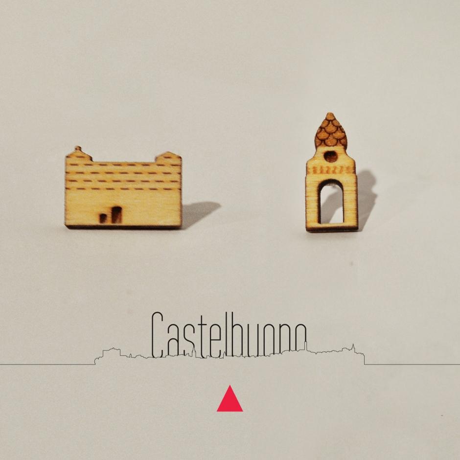 Orecchini castello e campanile