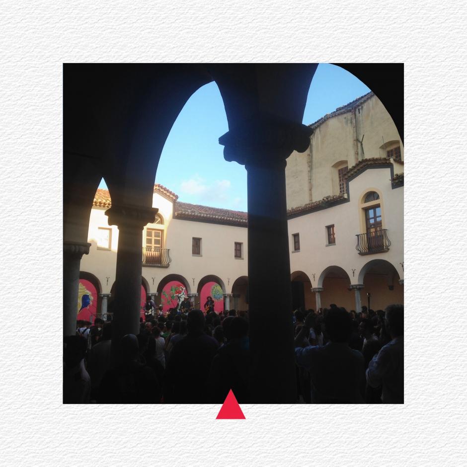 Chiostro di San Francesco durante l'Ypsigrock Festival