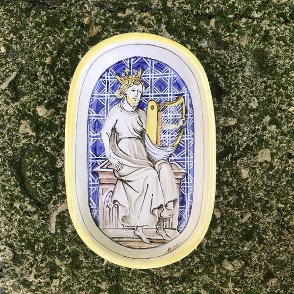 Ciotola Medioevo - Davide suona l'arpa