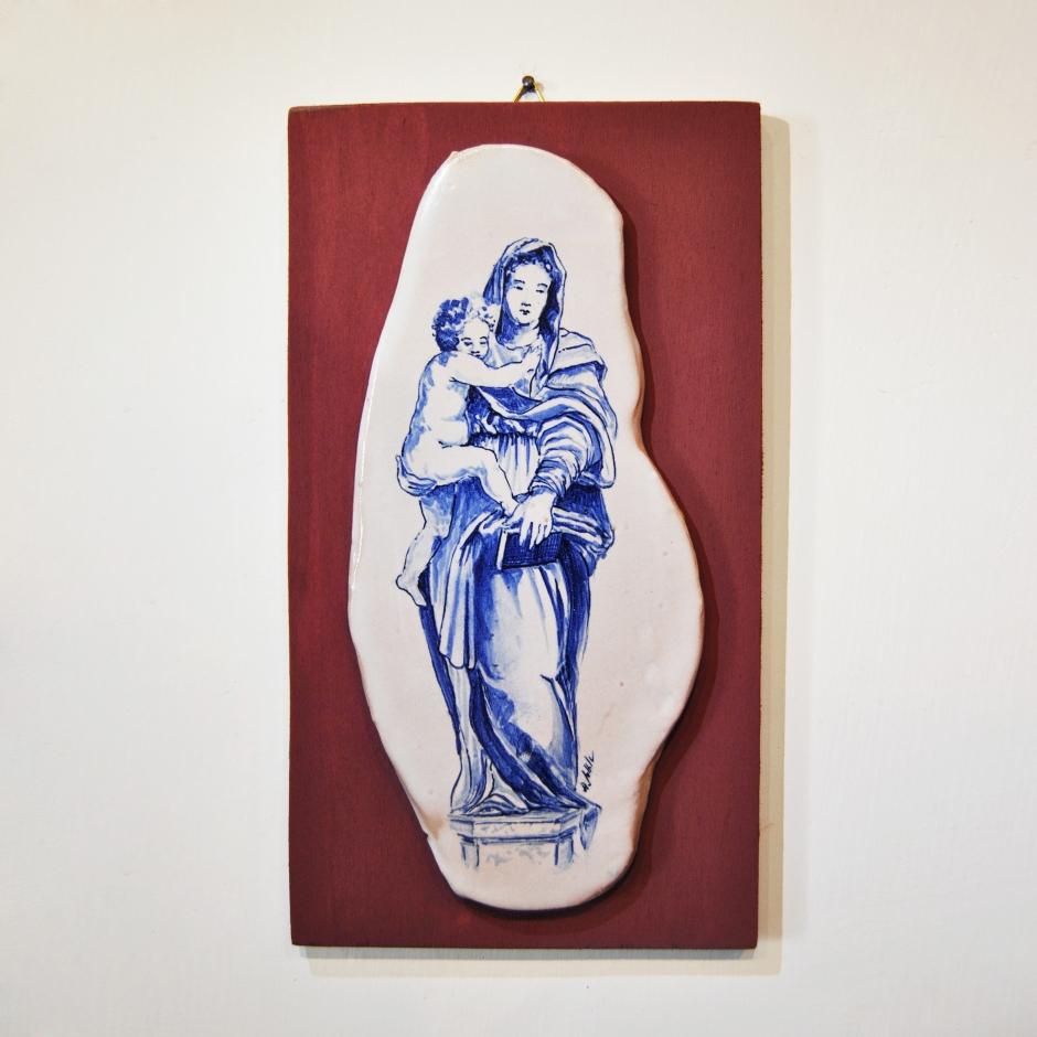 Madonna con Bambino, tavoletta amaranto