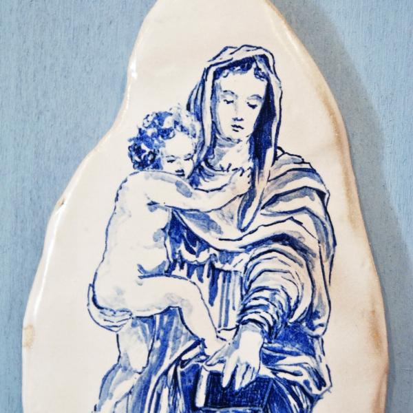 Madonna con Bambino, tavoletta celeste