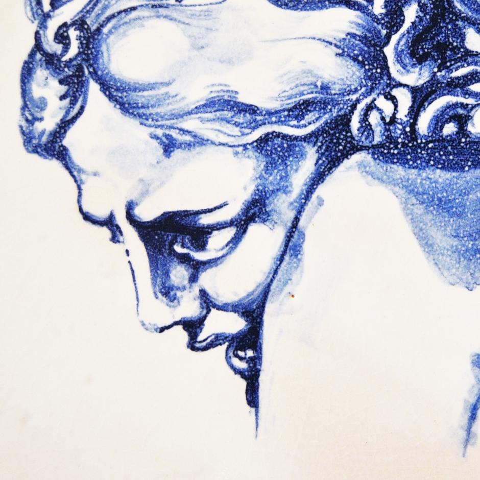 Volto donna cobalto