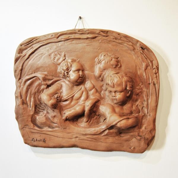 Bas-relief with puttos